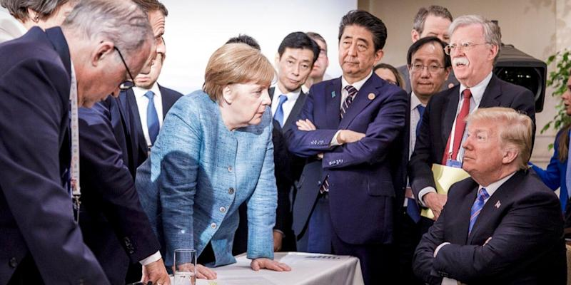 g7 leaders trump merkel summit