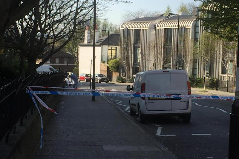 A forensic officer at the scene after the attack (Tom Marshall)