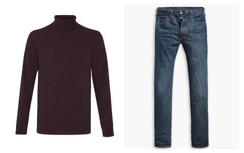 Polo neck and jeans