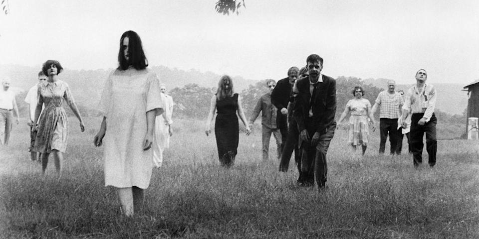 """<p>A staple for horror purists, George Romero's zombie classic just gets weirder with time. Its premise is simple enough: outrun zombies. But make sure you bring your appetite—the walking undead in this black-and-white classic are dishing out the gore in gobs. <a class=""""link rapid-noclick-resp"""" href=""""https://www.amazon.com/dp/B001QI4ORK?tag=syn-yahoo-20&ascsubtag=%5Bartid%7C10056.g.10247453%5Bsrc%7Cyahoo-us"""" rel=""""nofollow noopener"""" target=""""_blank"""" data-ylk=""""slk:Watch Now"""">Watch Now</a></p>"""