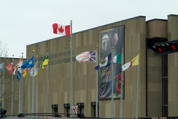 Charlottetown's 2021 Canada Day celebrations will include events across the downtown area, including at the Confederation Centre Art Gallery. (CBC - image credit)