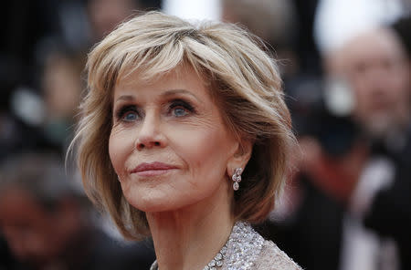 "FILE PHOTO: 71st Cannes Film Festival - Screening of the film ""BlacKkKlansman"" in competition - Red Carpet Arrivals - Cannes, France May 14, 2018 - Jane Fonda arrives. REUTERS/Stephane Mahe"