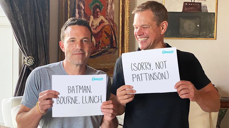 Ben Affleck and Matt Damon are offering the chance to have lunch with them. (Credit: Omaze)