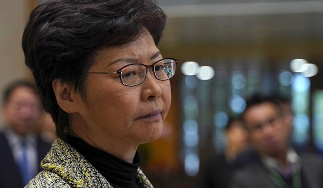 Hong Kong Chief Executive Carrie Lam vowed on Tuesday that the district council elections would proceed as scheduled on November 24. Photo: AP