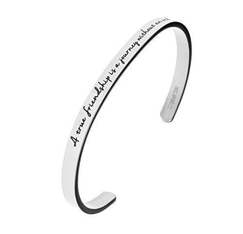 """<p><strong>Kendasun Jewelry</strong></p><p>amazon.com</p><p><strong>$14.97</strong></p><p><a href=""""http://www.amazon.com/dp/B016Z8YD76/?tag=syn-yahoo-20&ascsubtag=%5Bartid%7C10050.g.4859%5Bsrc%7Cyahoo-us"""" rel=""""nofollow noopener"""" target=""""_blank"""" data-ylk=""""slk:Shop Now"""" class=""""link rapid-noclick-resp"""">Shop Now</a></p><p>It's a grown-up version of the classic childhood friendship bracelet! This one is oh-so-affordable at less than $20—and that quote makes us tear up.</p>"""