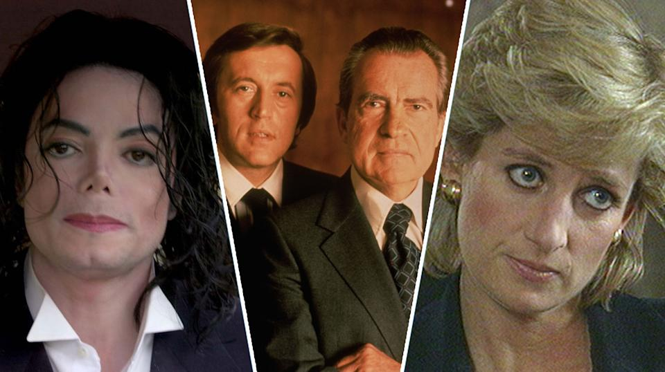 Michael Jackson, Richard Nixon and Princess Diana were all grilled for television (Getty)