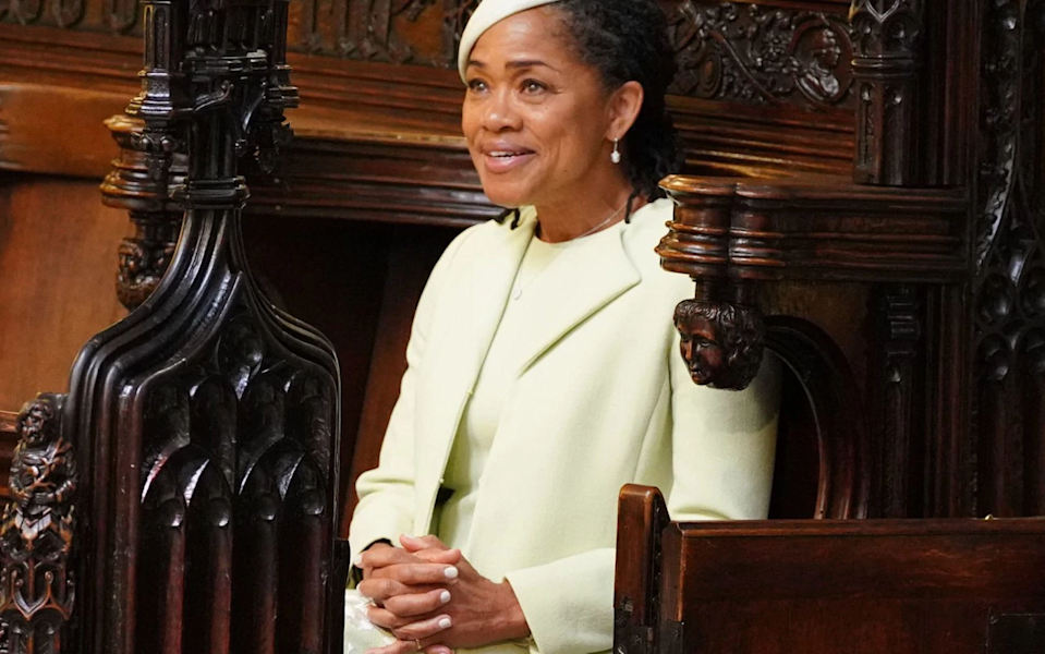 Meghan's mother Doria Ragland was sat in the second row during her daughter's wedding service [Photo: PA]