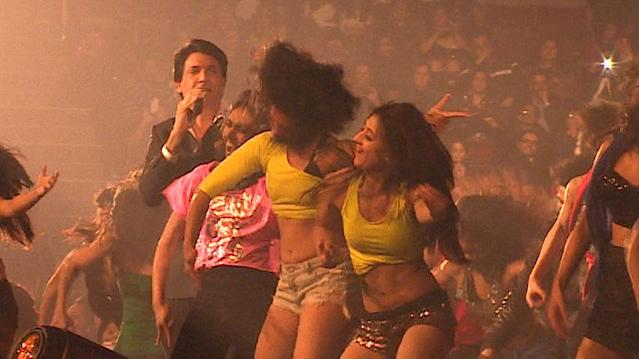 Bollywood choreographer Shiamak Davar opened the show at the Pacific Collisium Thursday night with his song Jaane Kisne.