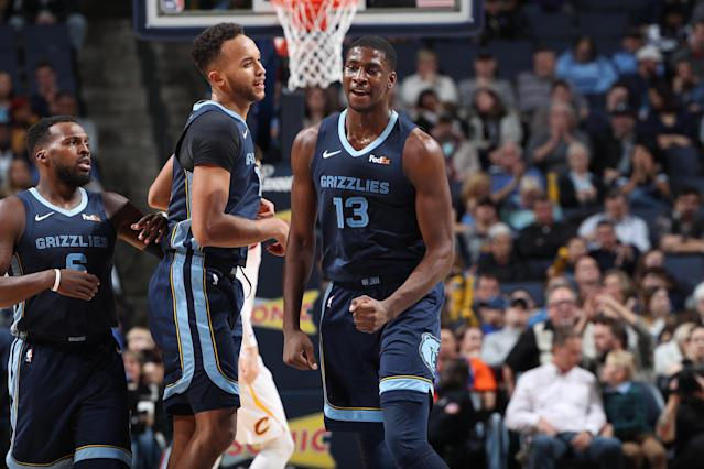 "Rookie <a class=""link rapid-noclick-resp"" href=""/ncaaf/players/291269/"" data-ylk=""slk:Jaren Jackson"">Jaren Jackson</a> is the future of the Grizzlies and could benefit from increased playing time opened in a potential Gasol deal.  (Getty)"