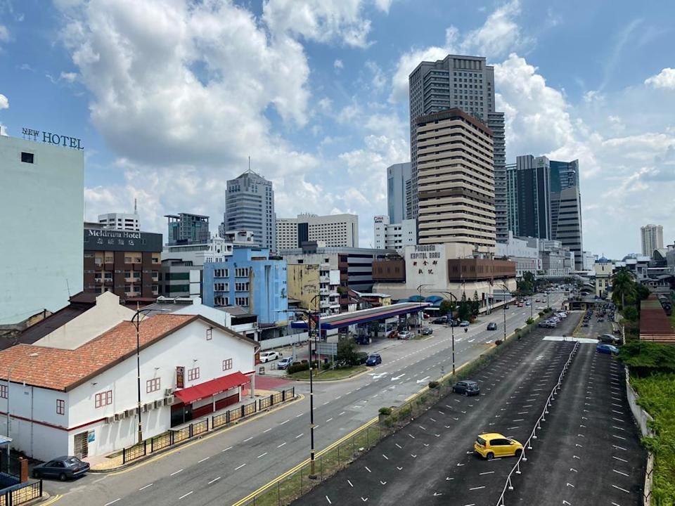 Johor Baru city centre is very quiet these days with the border closed and no Singaporeans coming over to shop and eat. — Picture by Ben Tan