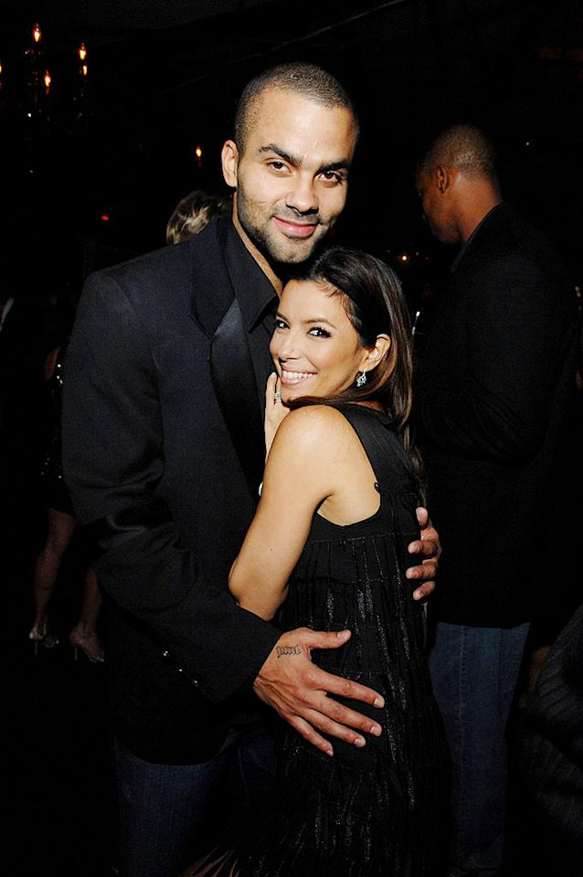 """Despite their height difference, Eva Longoria and her hubby Tony Parker make the perfect pair. Amy Graves/<a href=""""http://www.wireimage.com"""" target=""""new"""">WireImage.com</a> - December 31, 2008"""