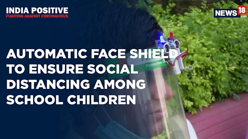 India Positive: UP Teacher Designs An Automatic Face Shield For School Students