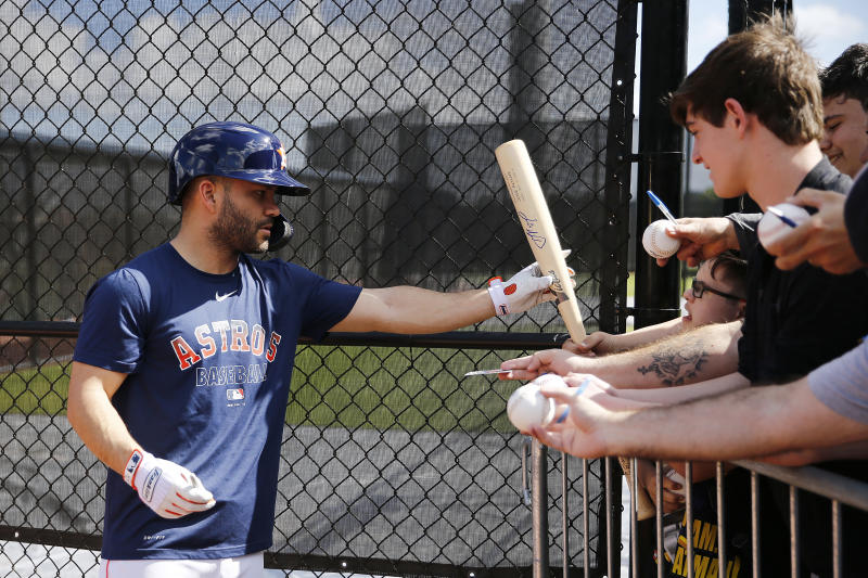 As Houston Astros stars like Jose Altuve have struggled to apologize for their sign-stealing scandal and placate a raging baseball world, Astros fans have reckoned with what it means for their love of their team. (Photo by Michael Reaves/Getty Images)