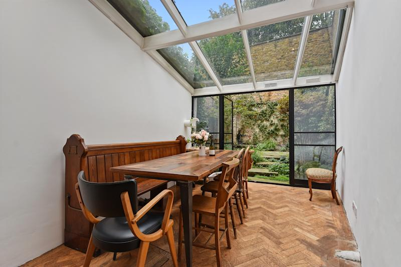 The dining room has doors onto the garden. (Winkworth)