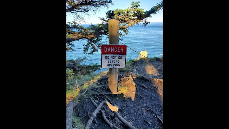 Hiker posing for photo falls to death in ocean after tree limb snaps, Oregon cops say