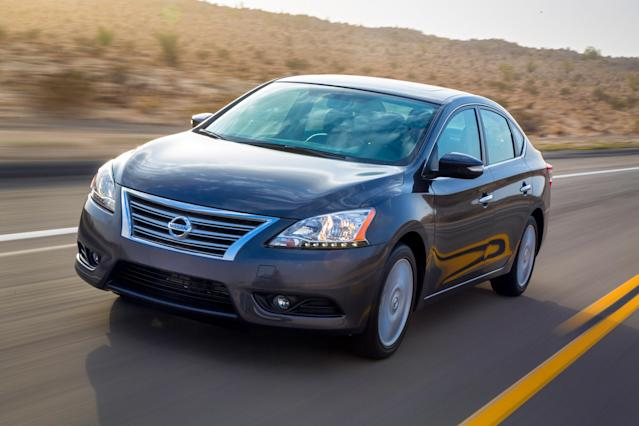 <p> This undated image made available by Nissan shows the 2013 Nissan Sentra. (AP Photo/Nissan)</p>