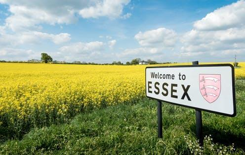 "<span class=""caption"">It's not just Northern accents that face discrimination. The Essex accent is also the source of stigma. </span> <span class=""attribution""><a class=""link rapid-noclick-resp"" href=""https://www.shutterstock.com/image-photo/welcome-essex-sign-uk-rural-english-744671455"" rel=""nofollow noopener"" target=""_blank"" data-ylk=""slk:pxl.store/Shutterstock"">pxl.store/Shutterstock</a></span>"