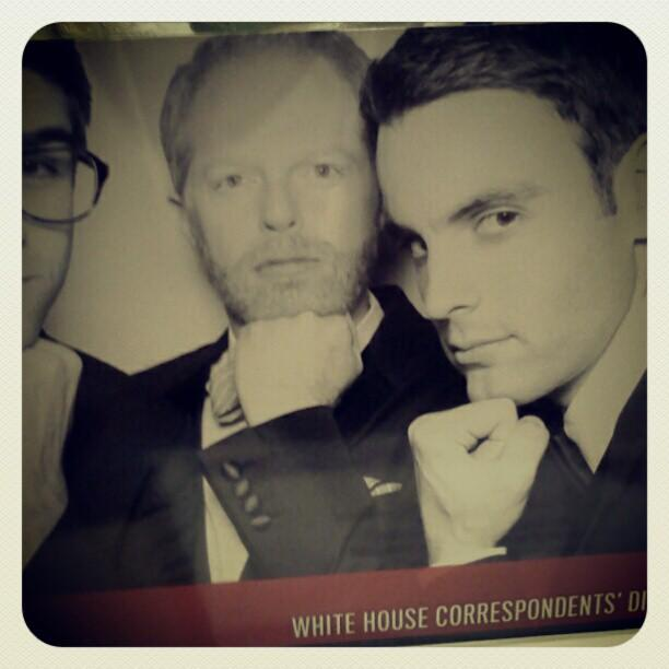 Devin Dwyer and actor Jesse Tyler Ferguson #WHCD