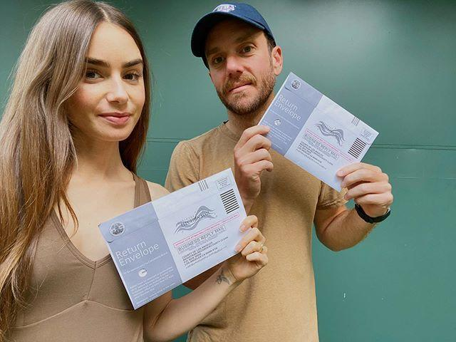 "<p>Lily and her fiancé, director Charlie McDowell posted a pic to Instagram of their mail in ballots in 2020. Although, they didn't say who they were voting for.</p><p><a href=""https://www.instagram.com/p/CGISB2vpqHi/?utm_source=ig_embed&utm_campaign=loading"" rel=""nofollow noopener"" target=""_blank"" data-ylk=""slk:See the original post on Instagram"" class=""link rapid-noclick-resp"">See the original post on Instagram</a></p>"