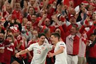 Denmark romped to victory to the delight of the home crowd