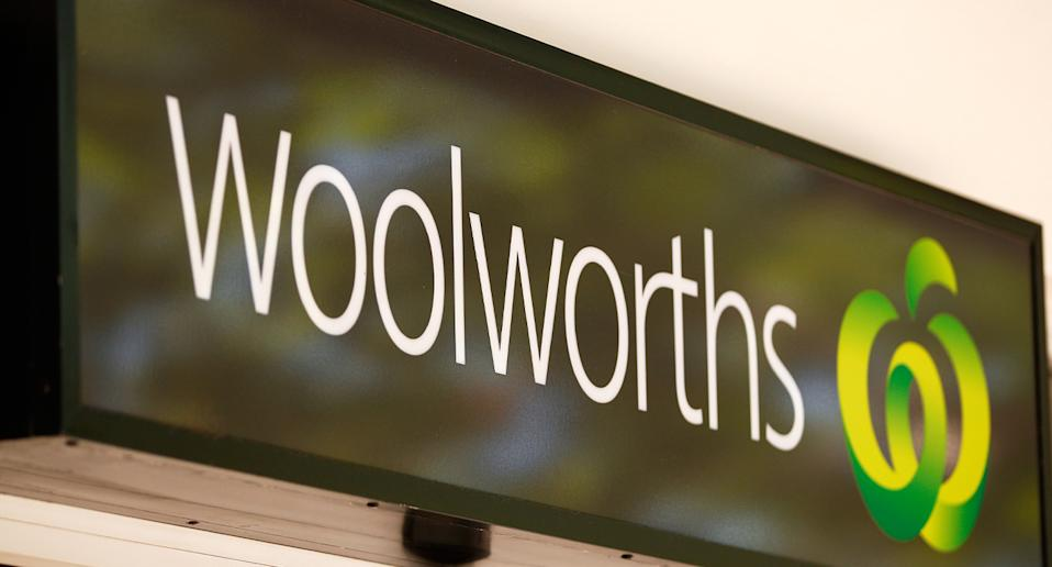 Woolworths sign pictured.