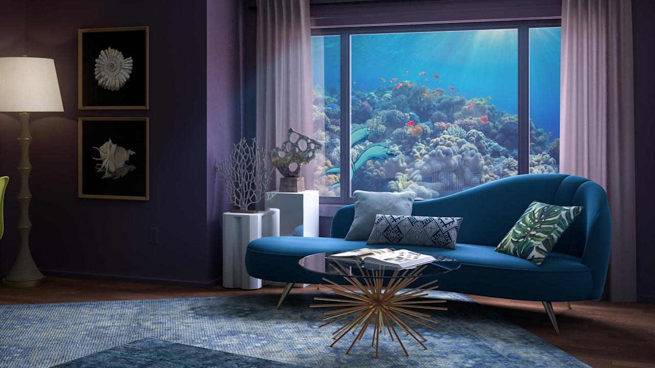 <p>Ursula's home looks straight from under the sea, covered in ocean-like accents. From the bedroom's shell-shaped bed to the living room's sea-urchin-inspired coffee table, there's no doubt Ursula's modern-day home is inspired by the city of Atlantica. In addition to its nautical interior, the home also exhibits small pieces of Ursula's personality, such as her crystal ball and King Triton's trident, which she uses to steal his crown. If you enjoy the ocean look of this space, the items ahead will suit your taste. </p>