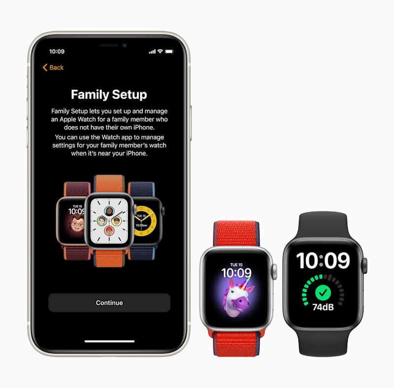 Family Setup in watchOS 7 brings Apple Watch features to family members who do not have an iPhone. (PHOTO: Apple)