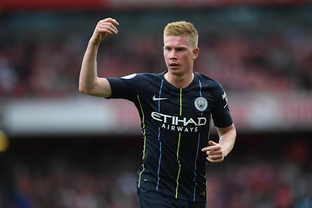 Kevin De Bruyne came off the bench in Manchester City's Premier League opener against Arsenal just 29 days after his World Cup campaign ended. (Getty)