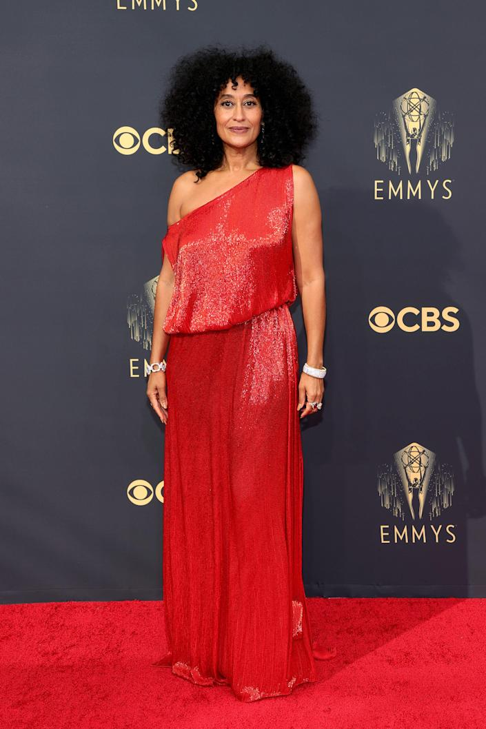 Tracee Ellis Ross attends the 2021 Emmys.