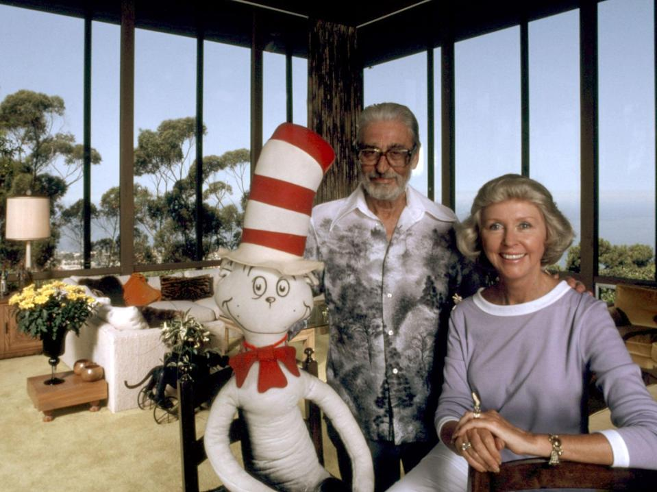 Theodor Geisel and his wife, Audrey, c. 1981 (Everett/Shutterstock)