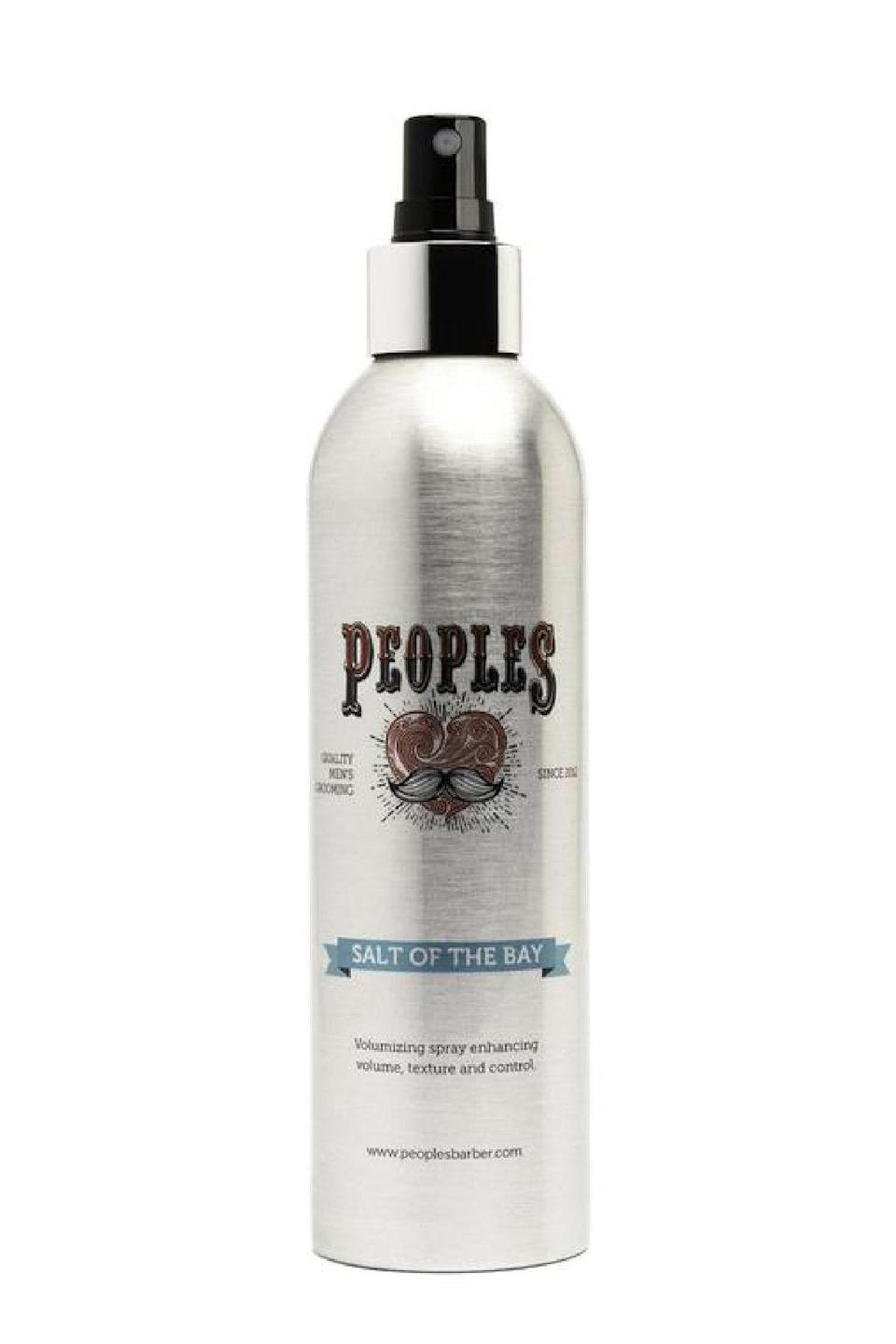 """<p><strong>Peoples Barber</strong></p><p>peoplesparber.com</p><p><strong>$25.00</strong></p><p><a href=""""https://shop.peoplesbarber.com/collections/hair-products/products/salt-of-the-bay"""" rel=""""nofollow noopener"""" target=""""_blank"""" data-ylk=""""slk:SHOP IT"""" class=""""link rapid-noclick-resp"""">SHOP IT</a></p><p>Don't let the six very simple ingredients fool you. Packed into this non-aerosol, low plastic bottle is an elegant salt spray formulation, light enough for fine strands but sturdy enough for wavy patterns, too. </p>"""