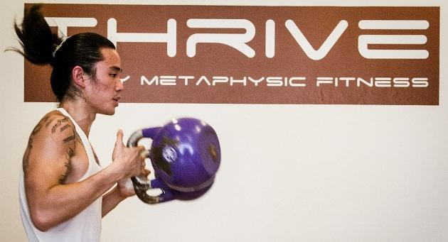 Tan at Thrive, his first success story (Courtesy of Zurina Bryant Photography)