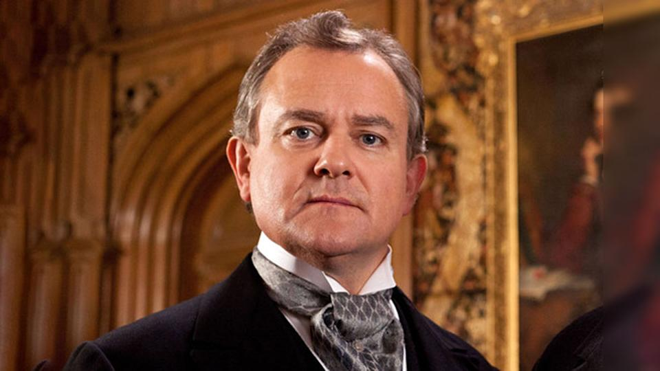 Hugh Bonneville appears on ITV's Downton Abbey at Robert Crawley