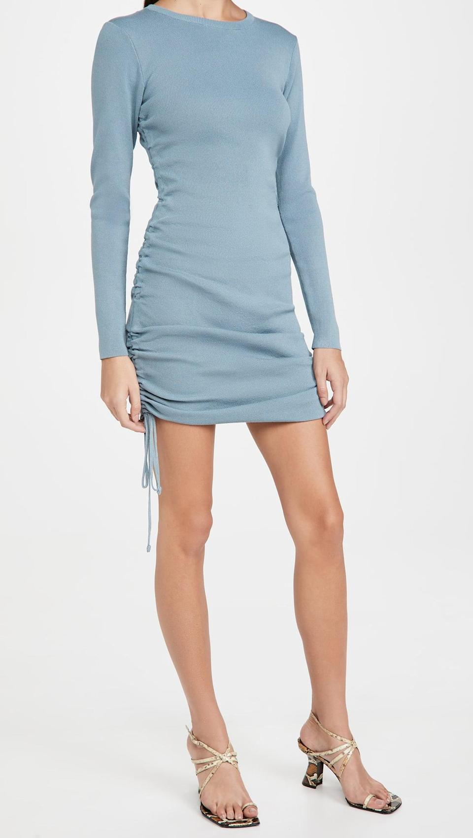 <p>This <span>Lioness Military Minds Long Sleeve Dress</span> ($50, originally $99) is sexy but still comfortable, and we love the blue.</p>