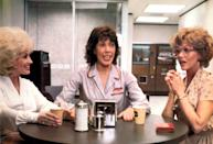 """<p>This movie has it all. A plot you can get behind (three working women finally get even with their """"sexist, egotistical, lying, hypocritical bigot"""" boss). Three icons in the starring roles (Dolly Parton, Lily Tomlin, and Jane Fonda). And a theme song that became one of the biggest Billboard hits of the entire decade (written by Parton, of course).</p> <p><em>Available to rent on</em> <a href=""""https://www.amazon.com/9-5-Jane-Fonda/dp/B005SAYWD8/ref=atv_dl_rdr"""" rel=""""nofollow noopener"""" target=""""_blank"""" data-ylk=""""slk:Amazon Prime Video"""" class=""""link rapid-noclick-resp""""><em>Amazon Prime Video</em></a><em>.</em></p>"""