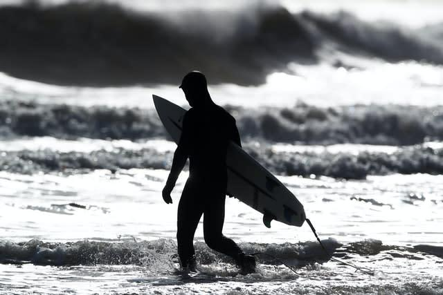 Surfing is finally set to return to the English coast (Owen Humphreys/PA)