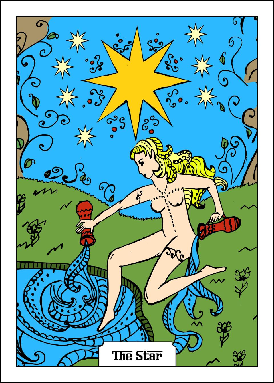 """<h1 class=""""title"""">the star major arcana tarot card</h1><cite class=""""credit"""">Getty Images</cite>"""