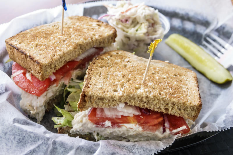 Florida, Port St Lucie, tuna sandwich. (Photo by: Jeffrey Greenberg/Universal Images Group via Getty Images)