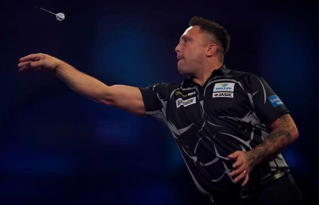 Gerwyn Price later issued an apology to Peter Wright (Tess Derry/PA)