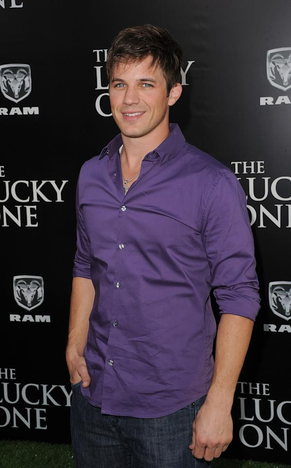 HOLLYWOOD, CA - APRIL 16:  Actor Matt Lanter arrives at the premiere of Warner Bros. Pictures' 'The Lucky One' held at Grauman's Chinese Theatre on April 16, 2012 in Hollywood, California.  (Photo by Jason Merritt/Getty Images)