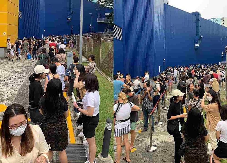 Singaporeans made a beeline for the Ikea Alexandra outlet last Saturday but the jury is still out on what exactly they were scrambling to stock up on. — Pictures from Twitter/infernoxv