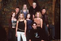 """<p><a href=""""https://www.etonline.com/selma-blair-shares-epic-throwback-pic-talks-auditioning-for-both-buffy-and-dawsons-creek-99576"""" rel=""""nofollow noopener"""" target=""""_blank"""" data-ylk=""""slk:Katie Holmes and Selma Blair"""" class=""""link rapid-noclick-resp"""">Katie Holmes and Selma Blair</a> were both considered for the role of Buffy before Sarah Michelle Gellar was cast. Even Charisma Carpenter (who ended up playing Cordelia) auditioned. Bonus fact: <a href=""""https://www.redbookmag.com/love-sex/relationships/a18672913/blake-lively-ryan-reynolds-body-language/"""" rel=""""nofollow noopener"""" target=""""_blank"""" data-ylk=""""slk:Ryan Reynolds"""" class=""""link rapid-noclick-resp"""">Ryan Reynolds</a> turned down the opportunity to play Xander.</p>"""