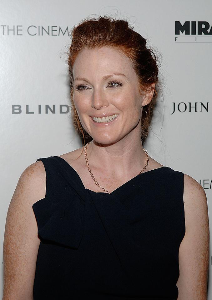 "<a href=""http://movies.yahoo.com/movie/contributor/1800020233"">Julianne Moore</a> at the Cinema Society New York screening of <a href=""http://movies.yahoo.com/movie/1809916711/info"">Blindness</a> - 09/22/2008"