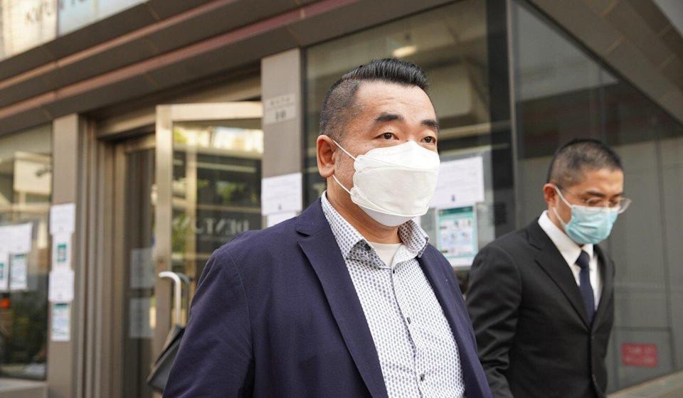 Mak King-hing leaves Kwun Tong Court after Monday's hearing. Photo: Winson Wong