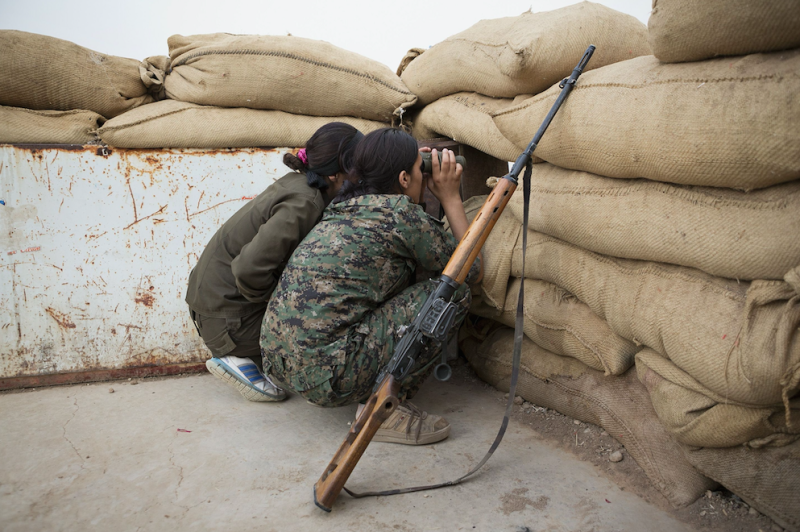 Ms Campbell had been fighting with all-female Kurdish unit the YPJ (Picture: Rex)
