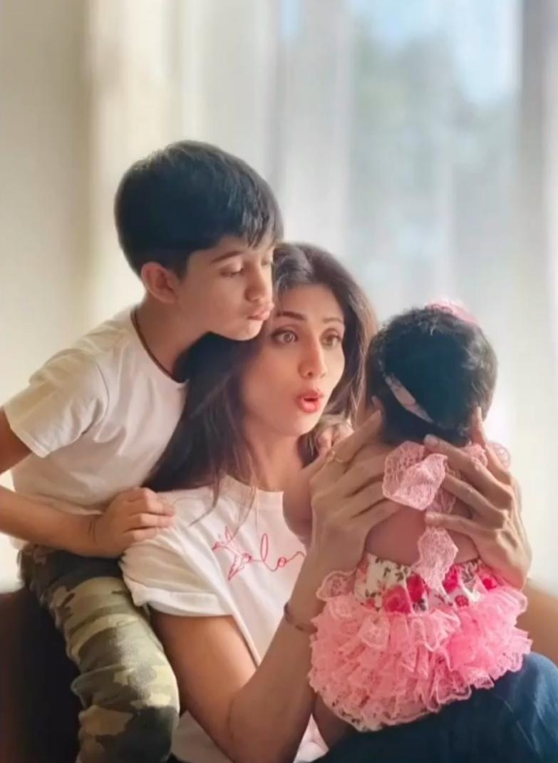 Though Shilpa has been enjoying the maternal bliss for years, Mother's Day of 2020 was her first celebration with baby Shamisha Shetty Kundra. The couple picked a unique name that beautifully matches with names of mummy as well as mashi, Shamita Shetty.