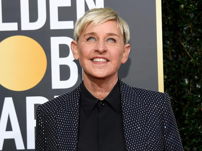 Ellen DeGeneres arrives to the 77th Annual Golden Globe Awards held at the Beverly Hilton Hotel on January 5, 2020.