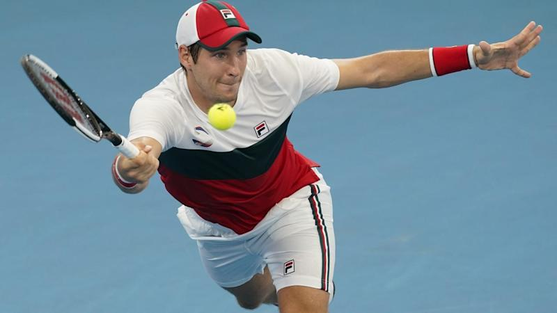Dusan Lajovic claimed a key first-up win for Serbia in the ATP Cup quarter-finals