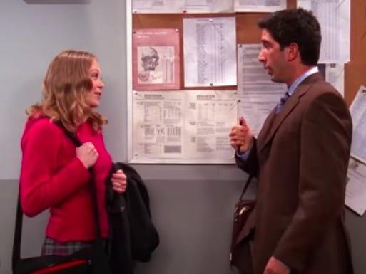 ross and elizabeth on friends