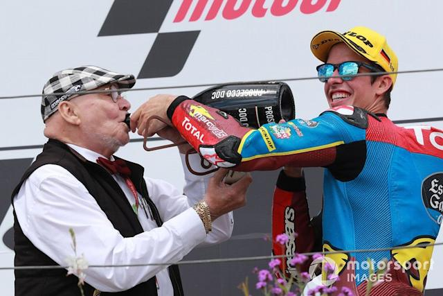 "Marc VD Straten, y el ganador, Alex Marquez, Marc VDS Racing <span class=""copyright"">Gold and Goose / LAT Images</span>"